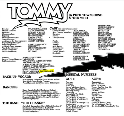 Tommy Credits1984